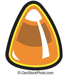 Candy corn Halloween clip art
