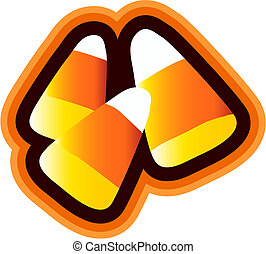 Candy Corn Isolated - Candy corn clipart isolated with...