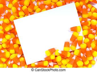 Candy Corn Notecard