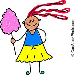 candy floss kid