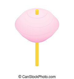 Candy floss pink isometric 3d icon