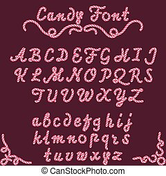 Candy font sweet type