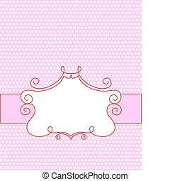 cute pink frame with space for your text