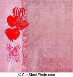 Candy Heart Bouquet - Valentine sucker bouquet with pink bow...