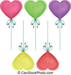 Candy Heart - candy hearts in the form of different colors...