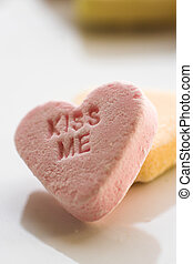 "candy heart \""kiss me"