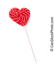 Candy heart lollipop
