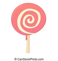 Candy icon, cartoon style