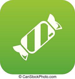 Candy icon green vector