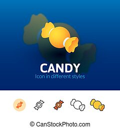 Candy icon in different style