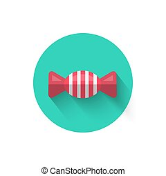 Candy Icon Isolated Vector Illustration. The symbol is ice cream dessert