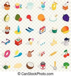 Candy icons set, isometric style