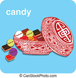 candy in box