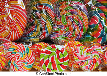 Candy in many colors.