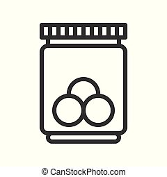 candy jar in christmas theme icon editable outline
