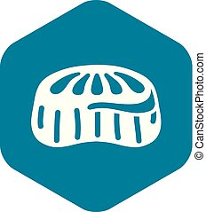 Candy jelly icon, simple style - Candy jelly icon. Simple ...