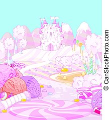Illustration of sweet Candy land