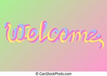 Candy Lettering typography: Welcome. Vector illustration concept