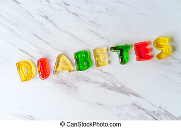 Candy Letters Spell Diabetes