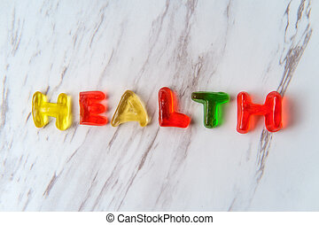 Candy Letters Spell Health