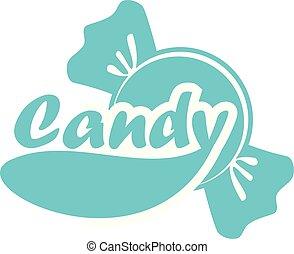 Candy Logo Design Template Vector