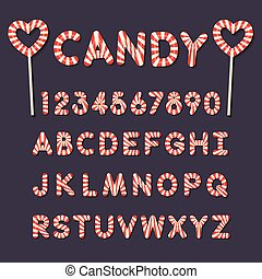 candy lollipop alphabet letters