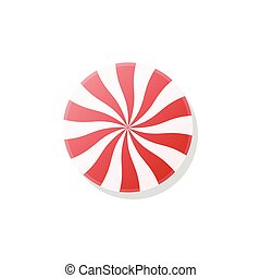 Candy lollypop, vector illustration