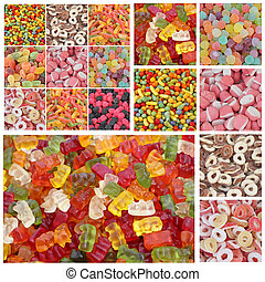 candy mix - candy collage