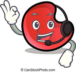 candy moon mascot cartoon
