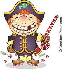 Candy Navy General Cartoon
