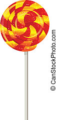 Candy on a stick, spinner, spiral. vector. - Candy on a ...