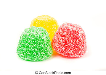 candy on white background