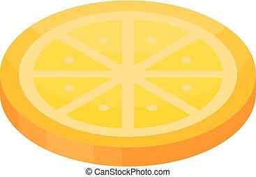 Candy orange icon, isometric style