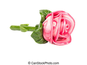 Candy rose from caramel