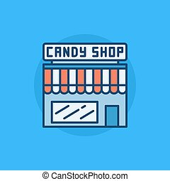 Candy shop flat icon