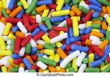 Candy Sprinkles - Close up of colorful candy sugar sprinkles