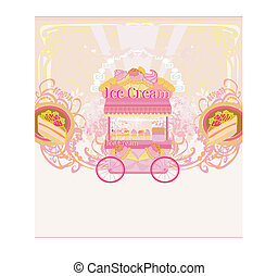 candy store - abstract retro card