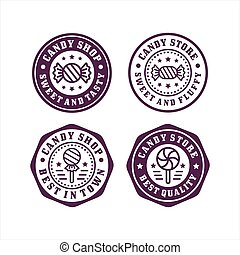 Candy store stamp premium collection