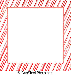 Candy Stripe Frame - Candy cane stripped background...
