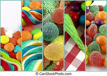 Candy Sweet Lolly Sugary Collage