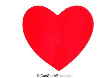 Candy Valentines sweet red hearth isolated over white
