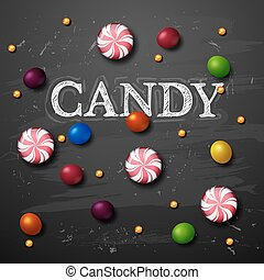 candy vector background