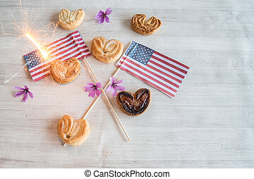 candy with flag for July 4th party
