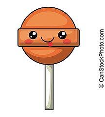 candy with kawaii face design