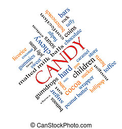 Candy Word Cloud Concept Angled