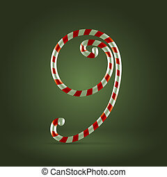 Candycane - Christmas Candy cane traditional sweets abc ...