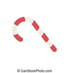 Candycane Flat illustration - Candy cane icon in flat color ...