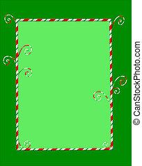 Candycane Frame on Green