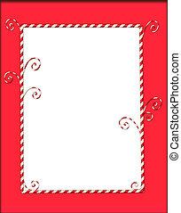 Candycane Frame on Red