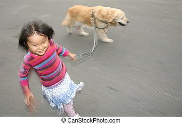 cane, bambino